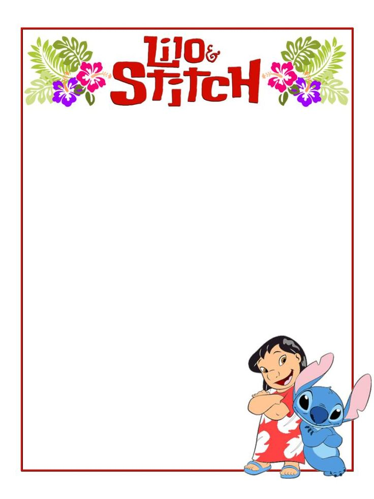 """Lilo and Stitch - Project Life Journal Card - Scrapbooking ~~~~~~~~~ Size: 3x4"""" @ 300 dpi. This card is **Personal use only - NOT for sale/resale** Logo/clipart belong to Disney. *** Click through to photobucket for more versions of this card ***"""