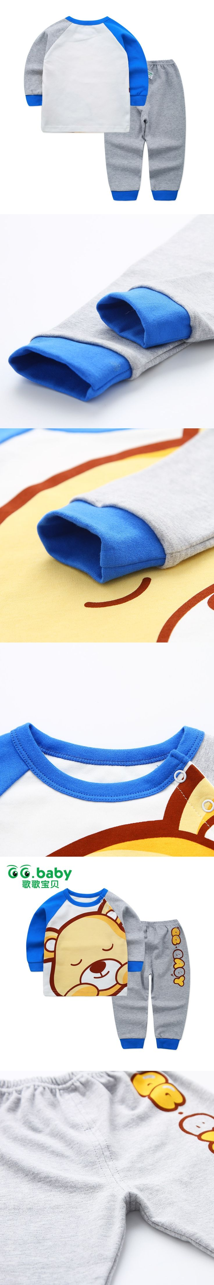 Newborn Baby Boys Clothes Set Suits Baby Girls Clothing Winter Pajamas Set Toddler Long Sleeve Cotton Baby Boy Outfits For Boys