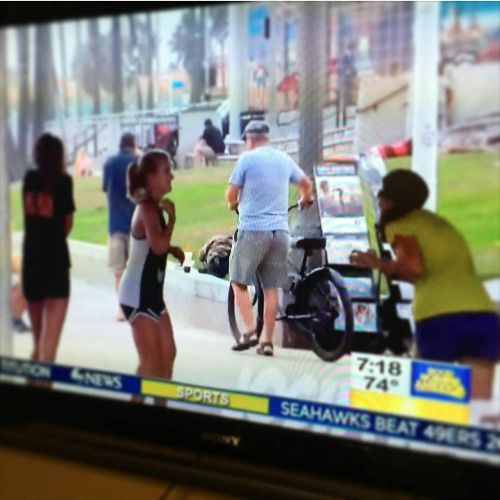 """""""JW Public witnessing cart came out on Good Morning America this morning…"""" - Sent by @rayraym55"""