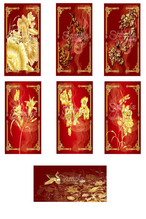Digital Download  Florals 1 Domino Images by DesignsByDownload, $1.50