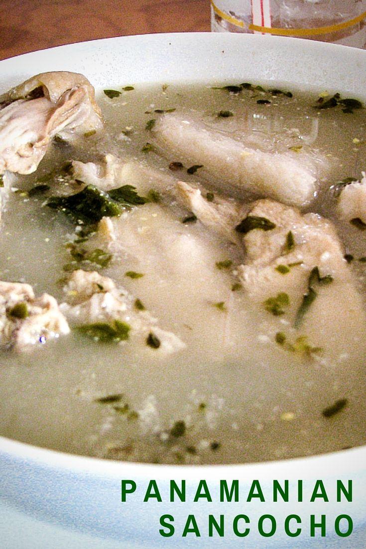 Sancocho de Panama. Sancocho es una sopa de pollo. Normalmente el tiene muchas verduras.