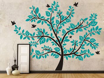 Lovely Imposanter Wandtattoo Baum