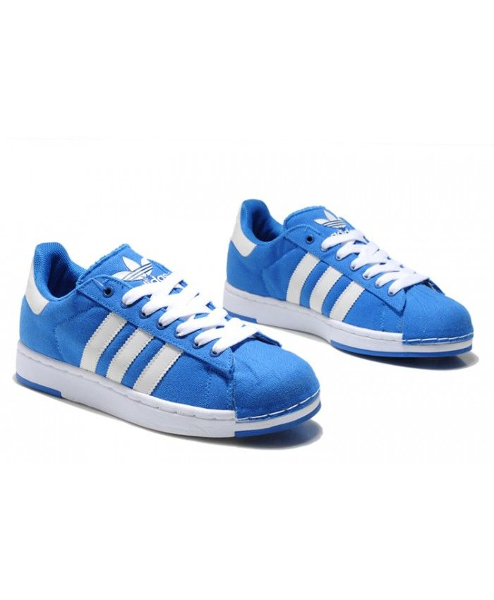 wholesale dealer d2ed2 cbe83 Adidas Superstar Mens Traniers In Blue And White On Sale