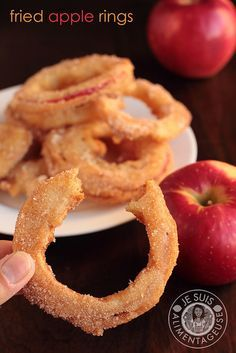 Fried Apple Rings with SweeTango apples