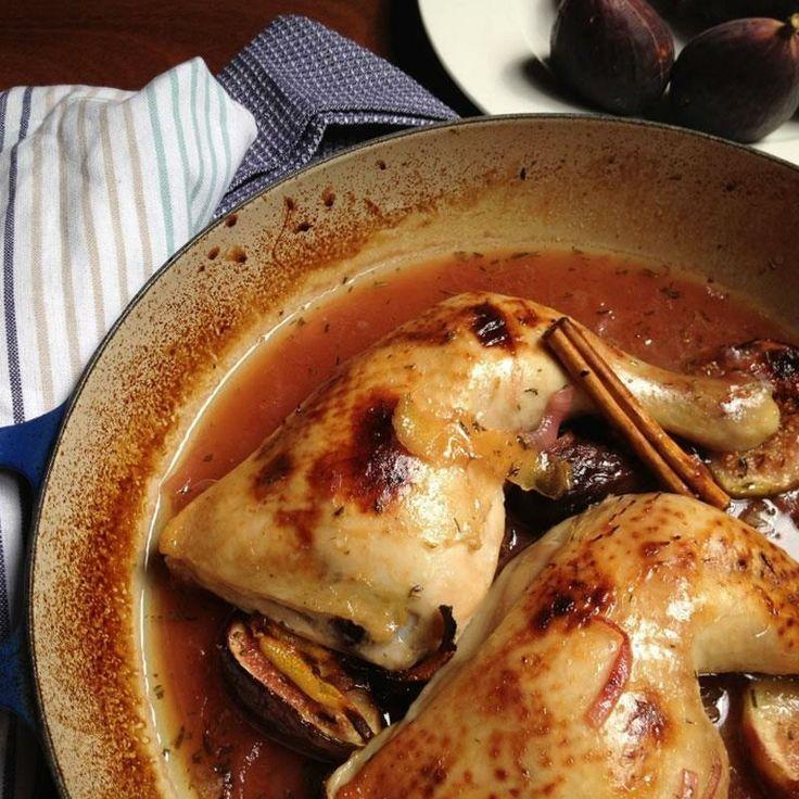 Pollo asado con higos. Una receta fácil y tremendamente resultona. Un matiz en el sabor que levanta pasiones.