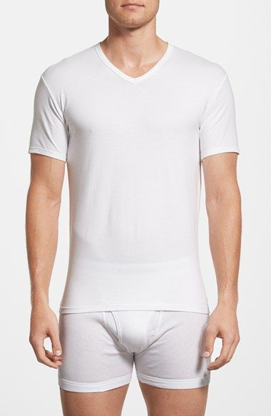 Calvin Klein Stretch Cotton V-Neck T-Shirt (2-Pack) available at #Nordstrom