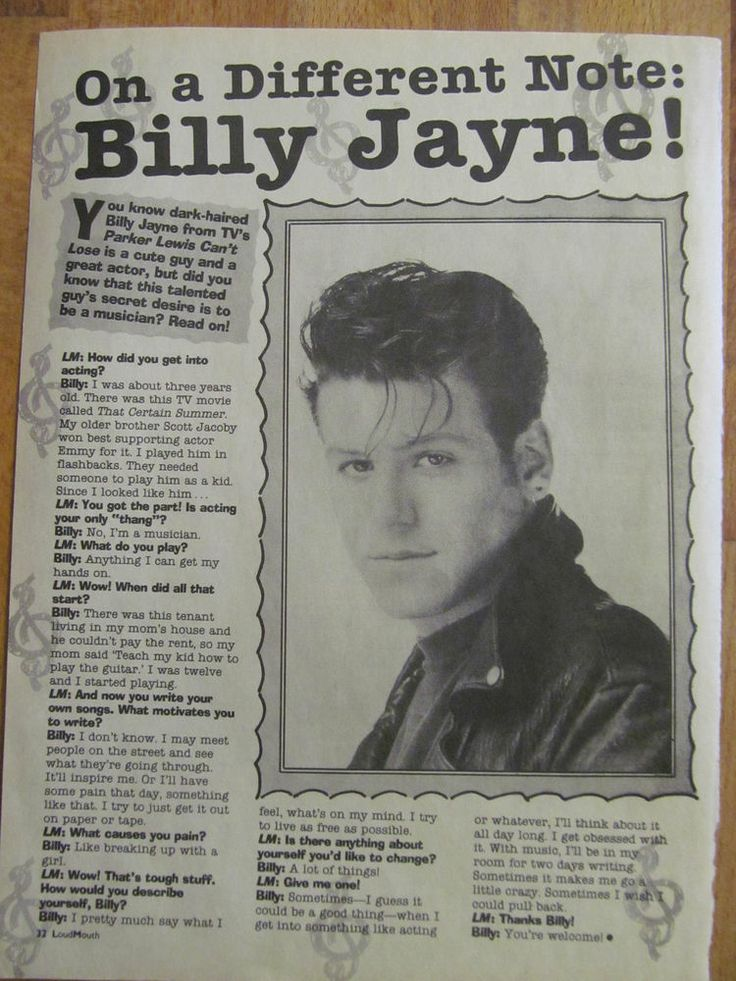 billy jayne bio