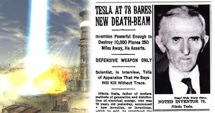 """Here's What """"They"""" Don't Want You To Know About The """"Death Beam"""" Produced By Nikola Tesla…"""