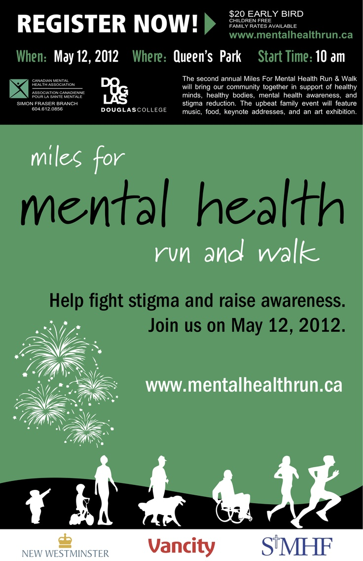 REGISTRATION is now open! http://mentalhealthrun.ca/