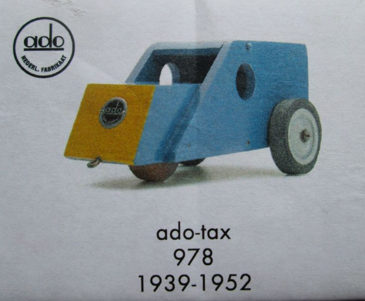 """Construction kit of dutch re-edition unpainted wooden ADO toy (cab) designed 1939 by Ko Verzuu in  """"De Stijl"""" design by SCALDESIGN on Etsy"""