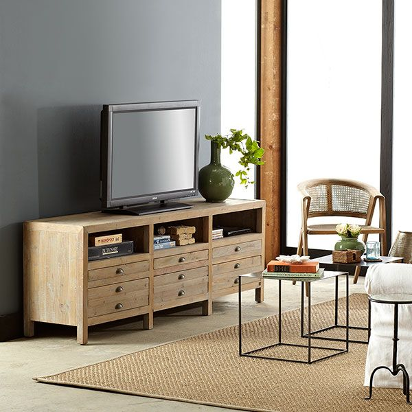 Entertainment Center- Wisteria - Furniture - Shop by Category - Consoles & Buffets -  Reclaimed Pine Entertainment Console - $1,299.00