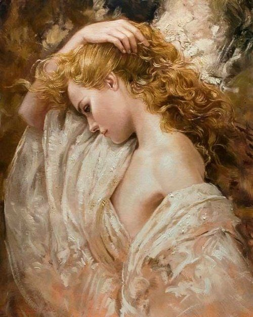♡Di Maio, Artworks, The Artists, Bruno Di, Brides, Golden Shadows, Angels, Art Painting, Beautiful Art