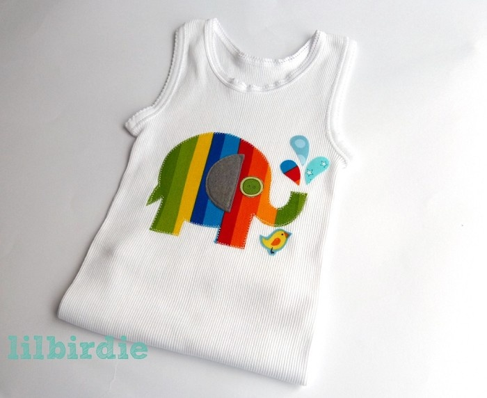 46 best singlet ideas images on pinterest sewing ideas baby baby singlet lucky the rainbow elephant negle Images