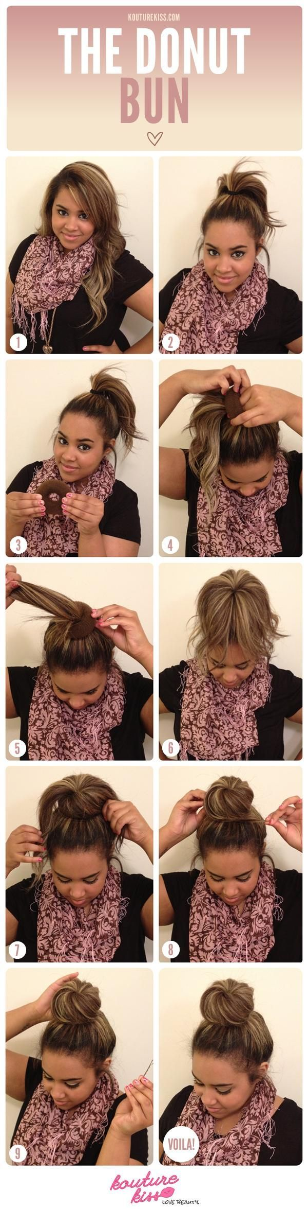 The Donut Bun TUTORIAL. It's got a twist to the bun