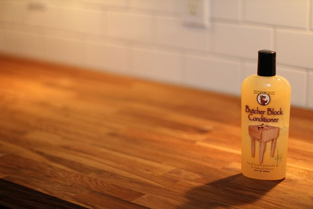 Maintain your butcher block counter. Howard Butcher Block Conditioner: food grade mineral oil + waxes | Old Town Home