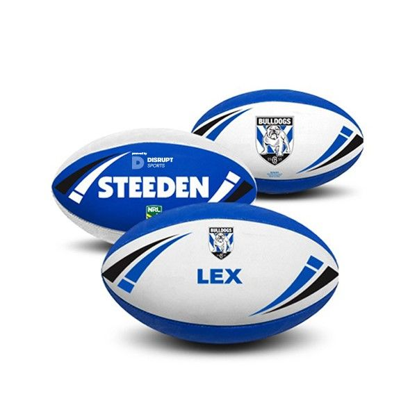 Like this we have more  Steeden Personalised NRL Bulldogs Rugby Ball - Size 5 - http://fitnessmania.com.au/shop/sportitude/steeden-personalised-nrl-bulldogs-rugby-ball-size-5/ #Exercise, #Fitness, #FitnessMania, #Gear, #Gym, #Health, #Mania, #RugbyGear, #Sportitude