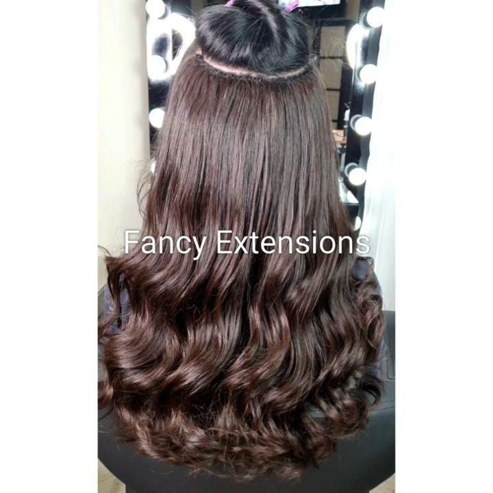 تركيب خياطة على خرز مخفي الطول ٢٢ انش الوزن ٥٠٠ غرام اللون بني الشعر بوظي ويف مصلح فير السعر ٦٣٠٠ ريال للنخبة فقط Hair Natural Hair Styles Hair Styles
