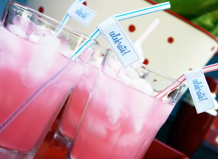 Fourth of July!July Drinks, July Parties, Printables Templates, Fourth Of July, Pink Drinks, July Printables, July Bbq, 4Th Of July, Pink Lemonade