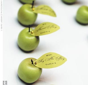 Apple theme to guide guests to their seats - Plan your wedding the smart way at www.myweddingconcierge.com.au