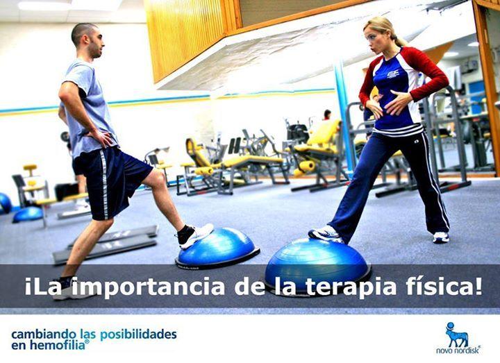 La terapia física progresiva y precoz es importante para recuperar el rango completo de movilidad y la fuerza de músculos. #hemofilia