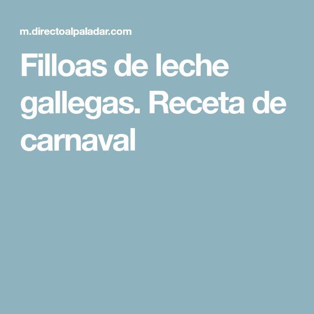 Filloas de leche gallegas. Receta de carnaval