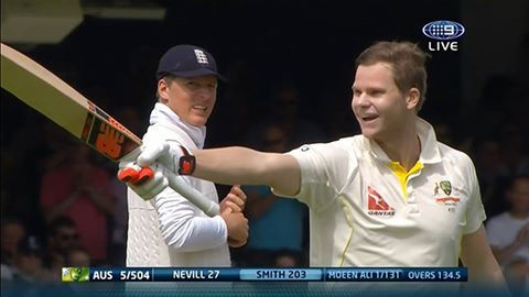The Ashes 2nd Test 2015 .. a double ton for Steve Smith