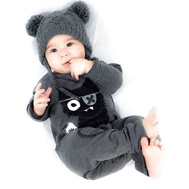 Baby romper Spring Summer 2017 New Newborn Boys and Girls Rompers kids clothes Toddler boys Jumpersuit Little Monster //Price: €0 & FREE Shipping //   #fashion #baby #clothes #trendy #2017