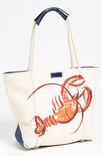 Milly Lobster Print Canvas Tote | Nordstrom