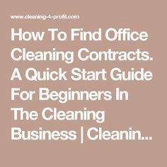 Best 20+ Cleaning contracts ideas on Pinterest