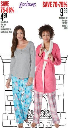 Make your Christmas morning the coziest of them all! Fleece pants, tops, and robes! Check out our Black Friday ad online now!