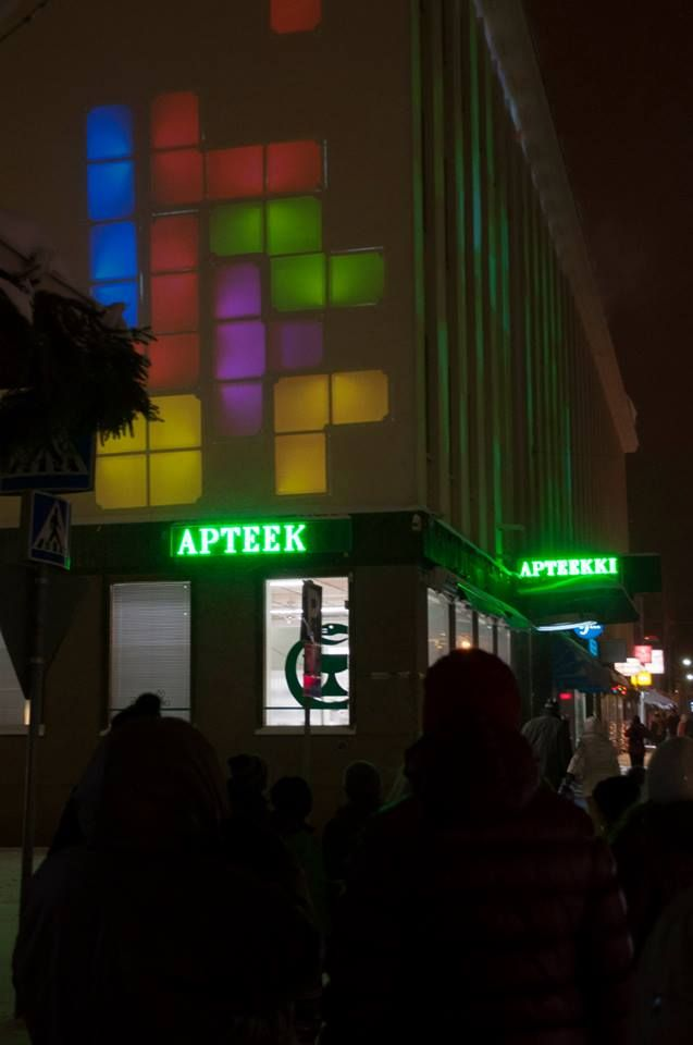 Nuoret yrittäjät valaisemassa Kajaanin keskustaa - Korpimaa, Korpimaa #avedia #valonjuhla #touchdown #kajaani