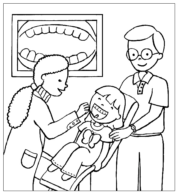 dental coloring pages for preschoolers - photo#16