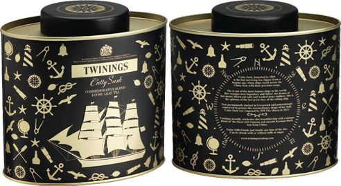 Twining's Cutty Shark relaunch commemorative black tea (blend of Yunnan and Keemun teas from China)