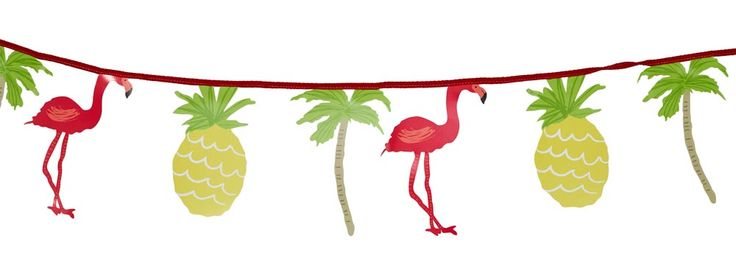 Combine both trends with this cool bunting from Sainsbury's which features pineapples and flamingos – it'll add a really tropical feel to your big day. It's also perfect if you're planning a Club Tropicana inspired 80s hen party.