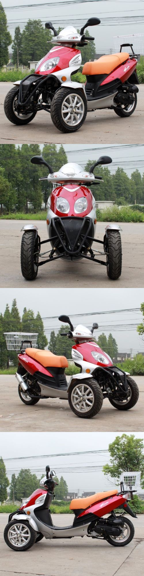 Other Cycling 2904: New Yd 49Cc Trike Bike Gas Moped Scooter 3 Wheels With Rear Carrier Red BUY IT NOW ONLY: $1614.99