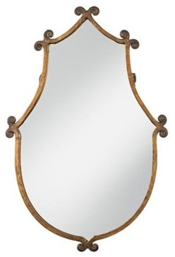 Uttermost Ablenay Hand Forged Frame Mirror eclectic mirrors