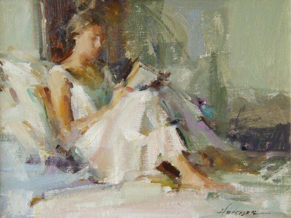 Carolyn Andersen. Beautiful loose brush strokes. Love the composition.Carolyn Anderson, Carolynanderson2Jpg 861647, Women Reading, Anderson Work, Art Inspiration, Anderson Carolyn, Figures Painting, Book, Art Figures