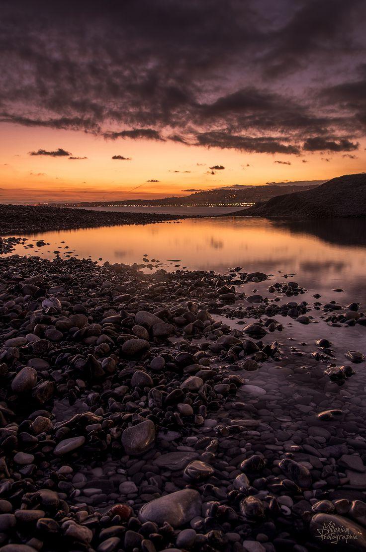 "coucher de soleil sur Nice, promenade des anglais  sunset in french riviera , Nice city my page :<a href=""https://www.facebook.com/milleniumphotographie."">FACEBOOK</a>"