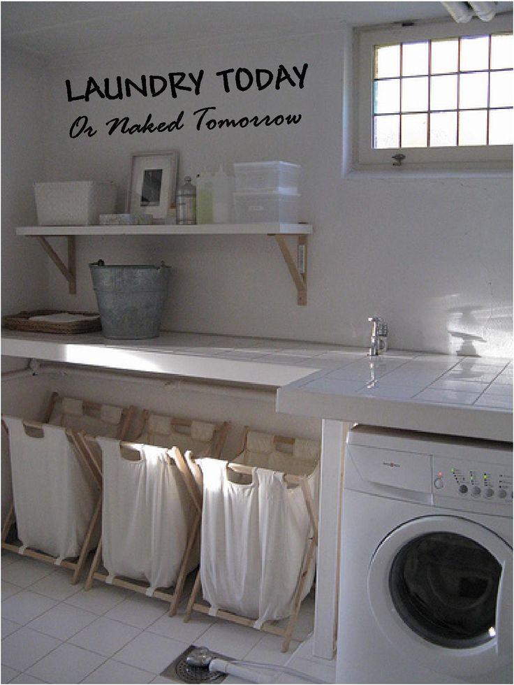 Laundry room ideas: si no es solo un techo cubriendo la lavadora, podría acostumbrarme a algo así ;)