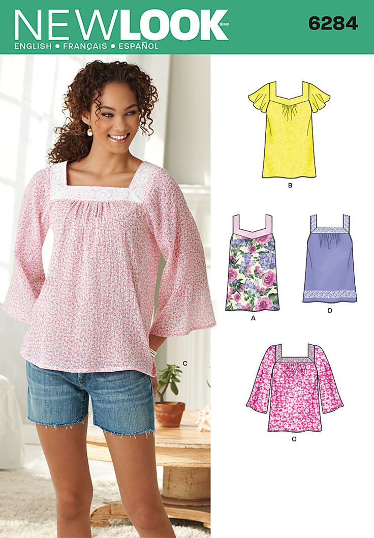 New Look 6824 S0548 Simplicity Creative Group - Misses' Pullover Top in Two Lengths 10-22
