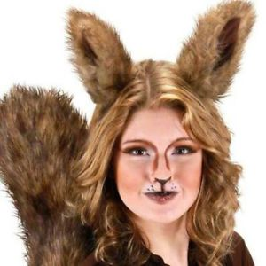 DELUXE-OVERSIZED-BIG-SQUIRREL-EARS-SCRAT-ANIMAL-COSTUME-EARS-BROWN-FURRY
