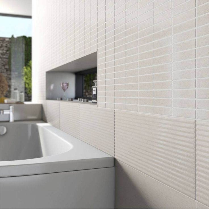 How To Do Wall Tile In Bathroom: Lucia Ripple Texture Ceramic Wall Tile 20cm X 50cm