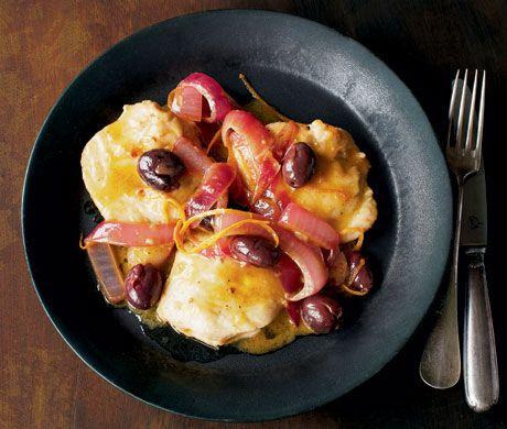 Chicken Breast with Orange and Gaeta Olives (Pollo con Olive ed Aranci)