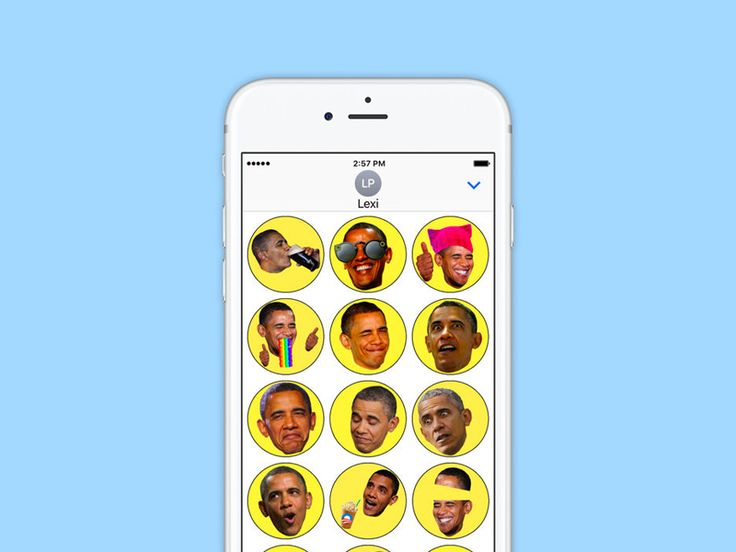 Obama GIF Stickers iMessage App