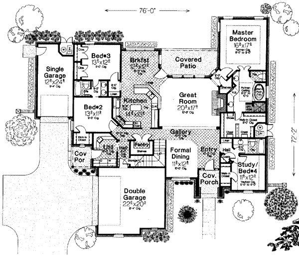 european style house plan 4 beds 300 baths 2659 sqft plan 310 267 - Patio Style Dream Home Plans