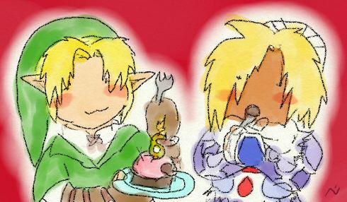 An old cute Shink drawing I did years ago to celebrate SheikxLink_FC turning 6…it's now almost 11. Yes, I am THAT Lady Norémon ^^;  { http://sheikxlink_fc.livejournal.com }