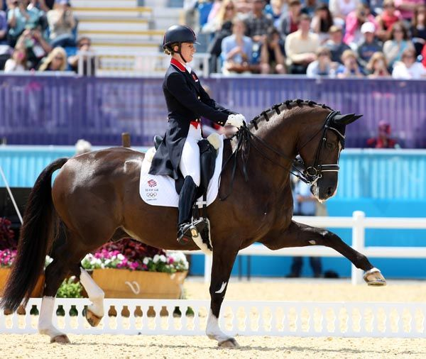 My jaw hit the floor the first time I saw this horse move, Charlotte Dujardin and Valegro. Gold medalists at London!