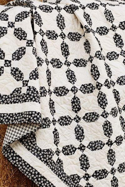 9 patches and snowball...two fabrics...two blocks!