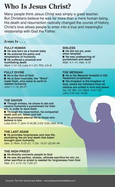 The Quick View Bible » Who is Jesus Christ?