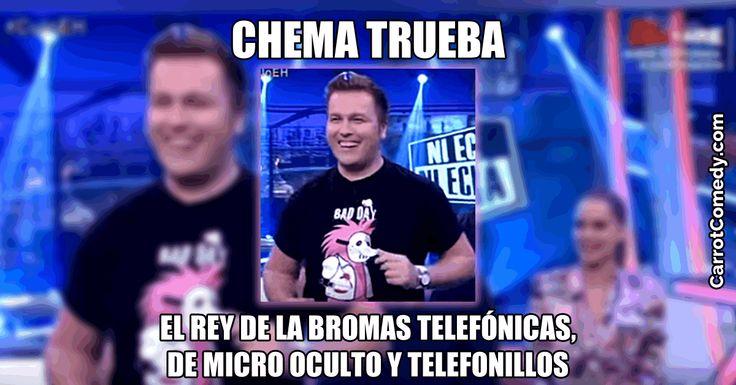 Chema Trueba es un simpático cántabro que tiene loca a media España con sus bromas telefónicas cortas de micro oculto y de telefonillos.